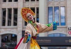Μόσχα, Ρωσία - 26 Ιουνίου 2018: Ρωσική ομορφιά στην οδό της Μόσχας Στοκ Εικόνες