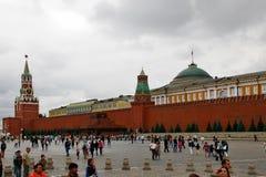 Μόσχα Ρωσία 16 08 2015: Κόκκινη πλατεία και Μόσχα Κρεμλίνο Στοκ εικόνα με δικαίωμα ελεύθερης χρήσης