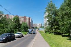 Μόσχα, Ρωσία - 31 Μαΐου 2016 Η περιοχή ύπνου Zelenograd αριθμός 11 Στοκ Φωτογραφίες