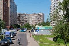 Μόσχα, Ρωσία - 31 Μαΐου 2016 Η περιοχή ύπνου Zelenograd αριθμός 11 Στοκ εικόνα με δικαίωμα ελεύθερης χρήσης