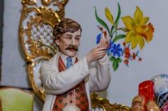 Μόσχα, Ρωσία - 19 Μαρτίου 2017: Εκλεκτής ποιότητας γιατρός ειδωλίων πορσελάνης συλλογής κινηματογραφήσεων σε πρώτο πλάνο στην έκθ Στοκ φωτογραφία με δικαίωμα ελεύθερης χρήσης