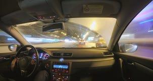 Μόσχα, Ρωσία - 22 Μαρτίου 2018: Μετακίνηση του αυτοκινήτου στη νύχτα φιλμ μικρού μήκους