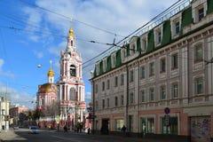 Μόσχα, Ρωσία - 14 Μαρτίου 2016 Ναός του μεγάλου μάρτυρα Nikita στην οδό Staraya Basmannaya, Μόσχα, Ρωσία Στοκ Φωτογραφίες