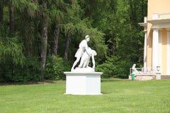 Μόσχα Ρωσία Μουσείο-κτήμα Arkhangelskoye πέτρα γλυπτών Στοκ Εικόνα