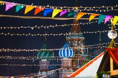 Μόσχα, Ρωσία, νέο έτος, κόκκινο τετράγωνο, Κρεμλίνο, Χριστούγεννα στοκ εικόνες