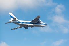 Μόσχα, Ρωσία - 31 Οκτωβρίου σοβιετικό αεροπλάνο μεταφοράς εμπορευμάτων Antonov An124 Στοκ εικόνα με δικαίωμα ελεύθερης χρήσης