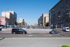 Μόσχα, Ρωσία - 22 Σεπτεμβρίου 2015 Πέρασμα της οδού Novy Arbat και της λεωφόρου Novinsky Στοκ εικόνα με δικαίωμα ελεύθερης χρήσης