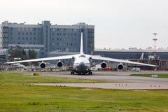Μόσχα, Ρωσία - τον Αύγουστο του 2013 σοβιετικό αεροπλάνο μεταφοράς εμπορευμάτων Antonov An124 Στοκ εικόνα με δικαίωμα ελεύθερης χρήσης