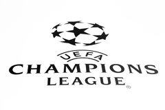 Μόσχα, Ρωσία - το Μάιο του 2018: Ηπειρωτικός ανταγωνισμός ποδοσφαίρου λεσχών UEFA Champions League που οργανώνεται από την ένωση  Στοκ Φωτογραφίες