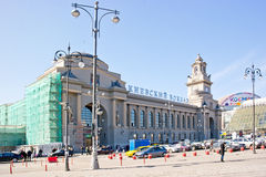Μόσχα. Σιδηροδρομικός σταθμός Kiyevsky Στοκ Εικόνες