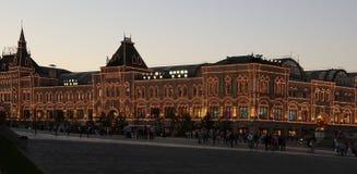 Μόσχα τη νύχτα, κόκκινη πλατεία, ΓΟΜΜΑ Στοκ Φωτογραφία
