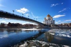 Μόσχα, Χριστός ο καθεδρικός ναός Savior στοκ φωτογραφία
