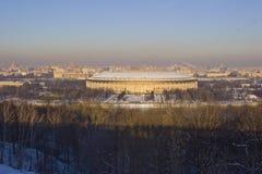 Μόσχα Luzhniki το χειμώνα Στοκ Φωτογραφία