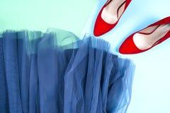 Μόδα Σύνολο μόδας εξαρτημάτων ενδυμάτων Θηλυκά μοντέρνα gumshoes Στοκ Φωτογραφία