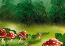 μύγα αγαρικών ελεύθερη απεικόνιση δικαιώματος