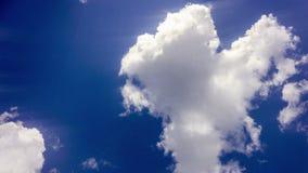 Μύγα αεροπλάνων από τον ηλιόλουστο μπλε ουρανό ημέρας Βίντεο βρόχων Άλφα κανάλι απόθεμα βίντεο