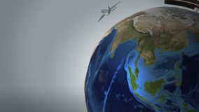 Μύγα αεροπλάνων σε όλο τον κόσμο απεικόνιση αποθεμάτων