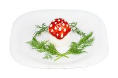 μύγα αυγών αγαρικών Στοκ φωτογραφία με δικαίωμα ελεύθερης χρήσης