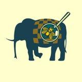 Μύγα στον ελέφαντα Στοκ Εικόνες