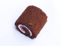 Μύγα στο σκοτεινό κέικ σοκολάτας Στοκ Φωτογραφίες