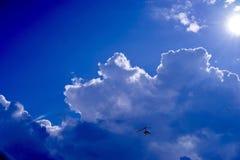 Μύγα στο σύννεφο Στοκ φωτογραφίες με δικαίωμα ελεύθερης χρήσης