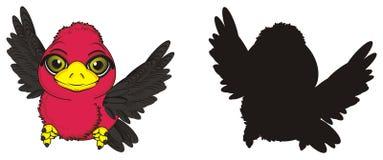 Μύγα δύο πουλιών απεικόνιση αποθεμάτων