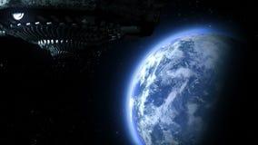 Μύγες UFO στη γη απεικόνιση αποθεμάτων