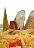 μύδια linguini Στοκ Εικόνες