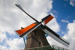 Μύλος σε Zaanse Schans Στοκ Εικόνες