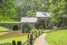 Μύλος Mabry κοντά στα λιβάδια Dan, Βιρτζίνια στοκ φωτογραφίες