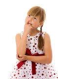 Μύτη επιλογής κοριτσιών στοκ φωτογραφία με δικαίωμα ελεύθερης χρήσης