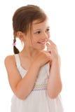 Μύτη επιλογής κοριτσιών Στοκ εικόνες με δικαίωμα ελεύθερης χρήσης