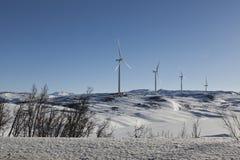 Μύλοι στους λόφους Στοκ Εικόνα