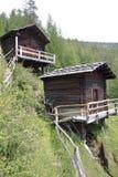 Μύλοι Stockmühlen σε Apriach, Hohe Tauern στοκ εικόνες