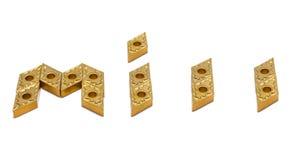 Μύλος λέξης από τα χρυσά εργαλεία τόρνου Στοκ φωτογραφία με δικαίωμα ελεύθερης χρήσης