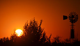 Μύλος αργά το απόγευμα σε Paysandú, Ουρουγουάη Στοκ φωτογραφία με δικαίωμα ελεύθερης χρήσης