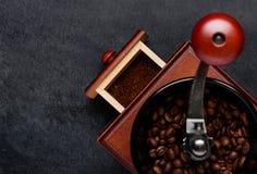 Μύλος καφέ με τη διαστημική περιοχή αντιγράφων Στοκ εικόνες με δικαίωμα ελεύθερης χρήσης