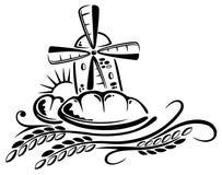 Μύλος, σιτάρι, καλαμπόκι Στοκ Εικόνα