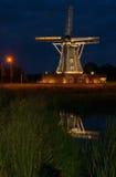 Μύλος Winterswijk στις Κάτω Χώρες το βράδυ με τον ειδικό φωτισμό στοκ φωτογραφίες με δικαίωμα ελεύθερης χρήσης