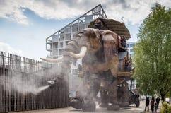 Νάντη, Γαλλία - 3 Μαΐου 2017: Ο μεγάλος ελέφαντας είναι μέρος Στοκ Φωτογραφία