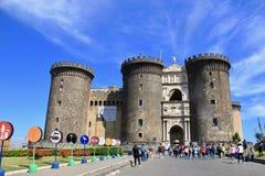 Νάπολη, Ιταλία, μουσείο του Castle στοκ εικόνα