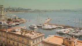 Νάπολη, Ιταλία, Borgo Marinari απόθεμα βίντεο