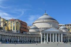 Νάπολη (Napoli), Ιταλία - 10 Ιουνίου: Piazza del Plebiscito, στις 10 Ιουνίου Στοκ φωτογραφία με δικαίωμα ελεύθερης χρήσης