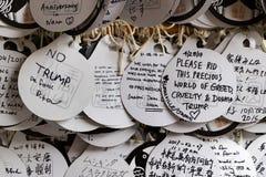 Νάρα, Ιαπωνία - 31 Μαΐου 2017: Ema, μικρές ξύλινες πινακίδες με την επιθυμία Στοκ εικόνες με δικαίωμα ελεύθερης χρήσης