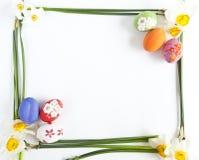 νάρκισσοι αυγών Πάσχας στοκ φωτογραφίες