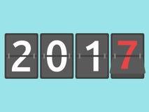 Νέα άφιξη 2017 έτους ελεύθερη απεικόνιση δικαιώματος
