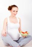 Νέα έγκυος γυναίκα Στοκ εικόνα με δικαίωμα ελεύθερης χρήσης