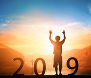 Νέα έννοια έτους: νέοι στόχοι, νέες κατευθύνσεις, νέες ελπίδες το 2019 στοκ φωτογραφία με δικαίωμα ελεύθερης χρήσης