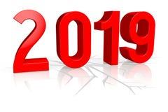 2019 νέα έννοια έτους - ρωγμή ελεύθερη απεικόνιση δικαιώματος