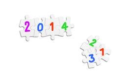 Νέα έννοια έτους διανυσματική απεικόνιση